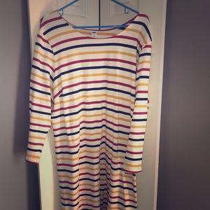 Old Navy. Striped sheath dress.
